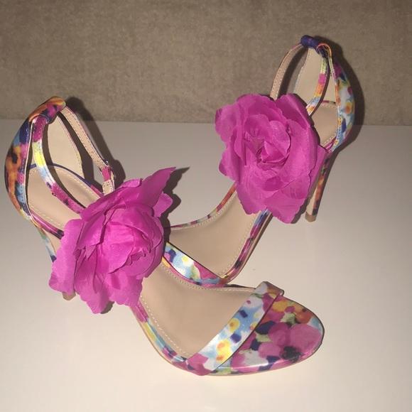 071a2a265d5 Floral ankle strap sandals